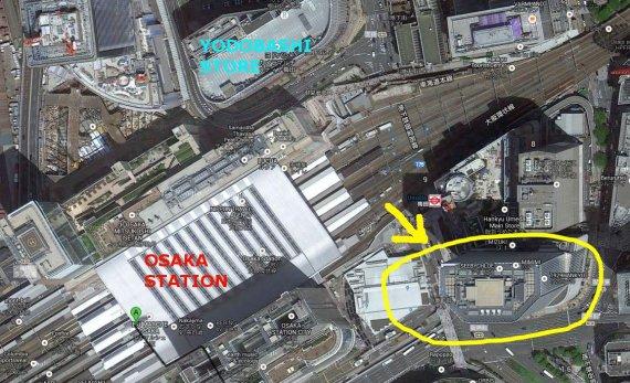 osaka station area map