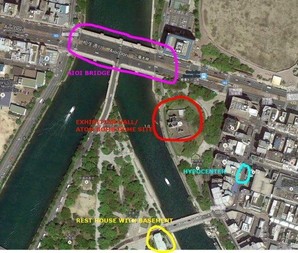 hiroshima peace park map