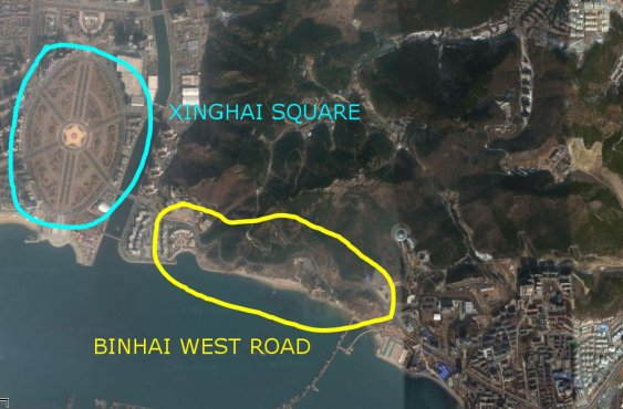 binhai area map