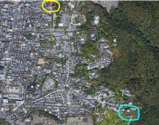 kiyomizudera area map