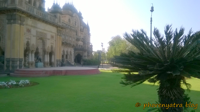 laxmi vilas palace lawn