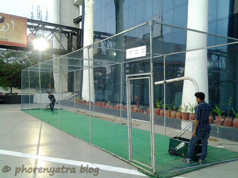 cricket pitch outside vadodara bus station