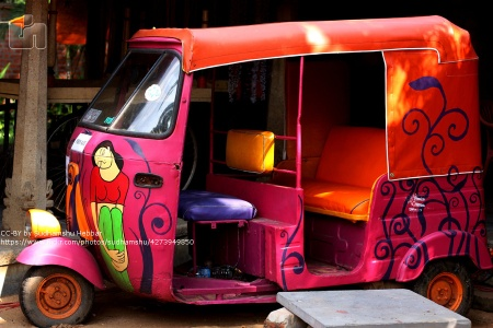 colourful rickshaw