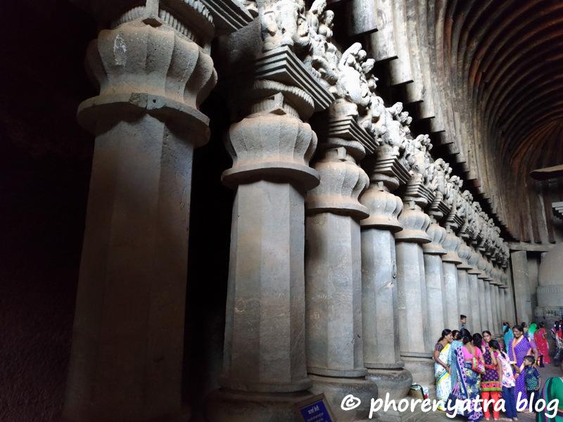 karla caves chaitya columns