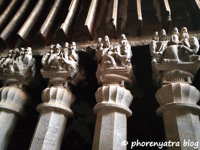karla caves carving
