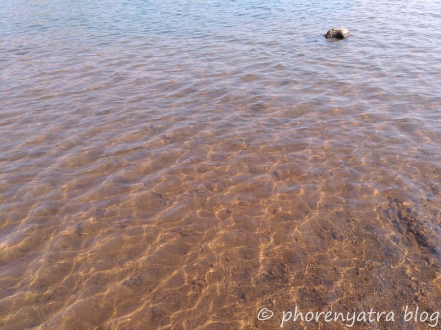 clear water of pawna lake