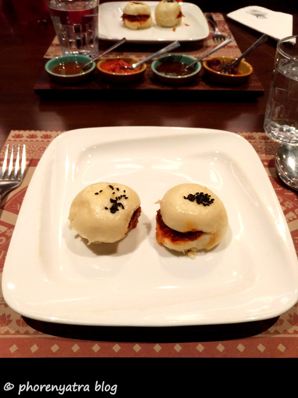steamed chilly onion buns
