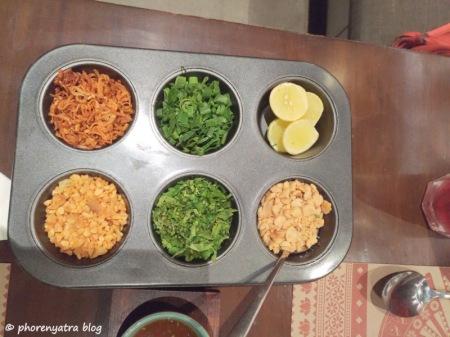 khow suey condiments