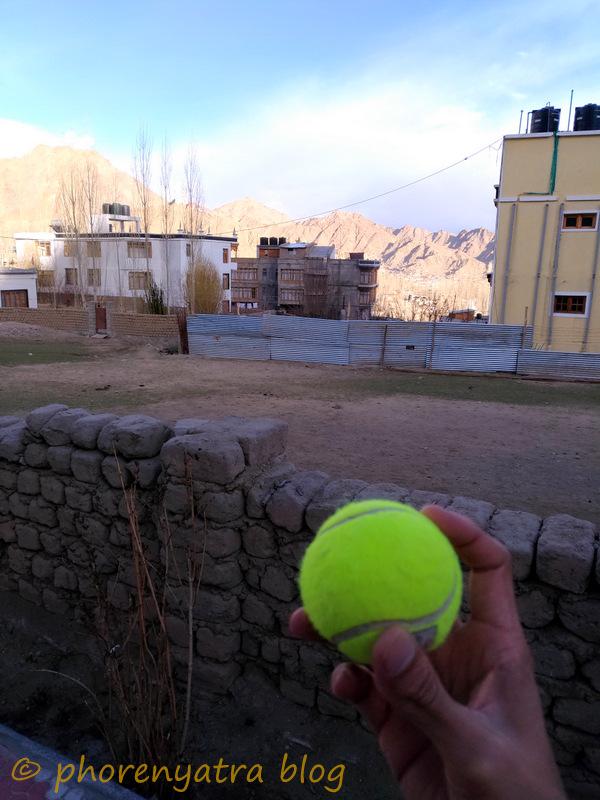 playing cricket Leh