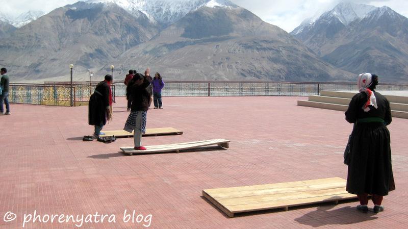pray at diskit monastery