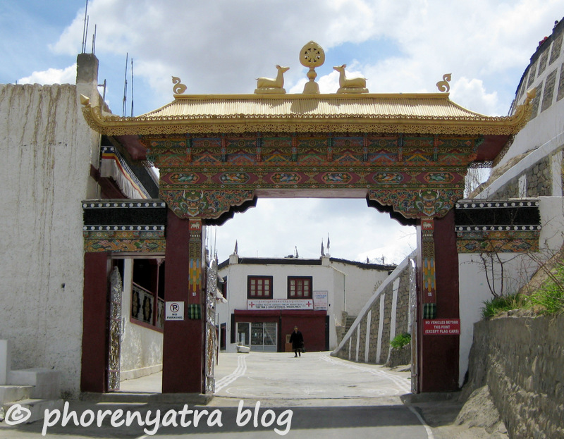 entrance to Thiksey monastery
