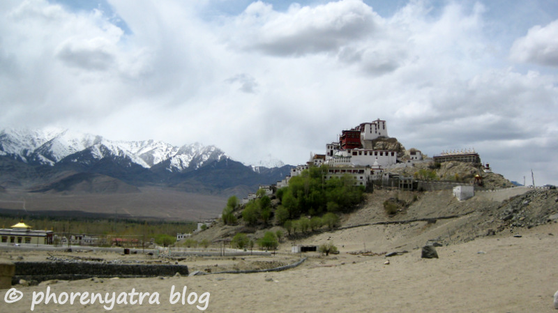Thiksey Monastery side