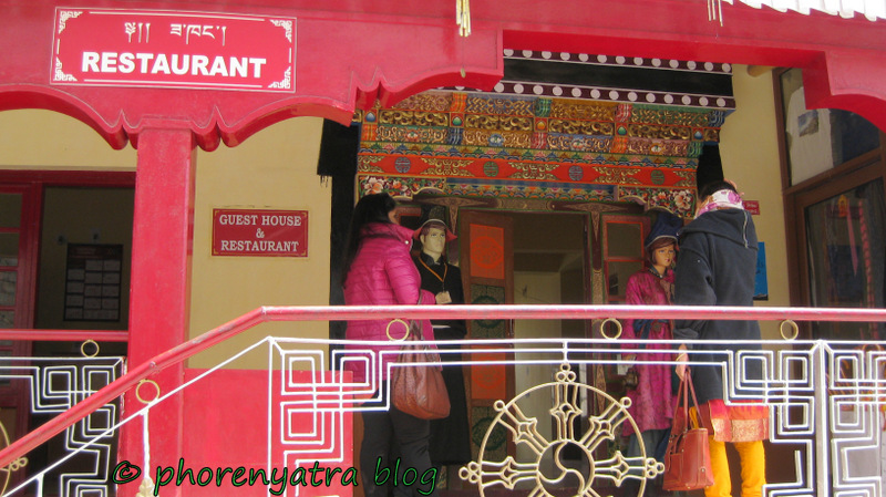 restaurant at Thiksey monastery