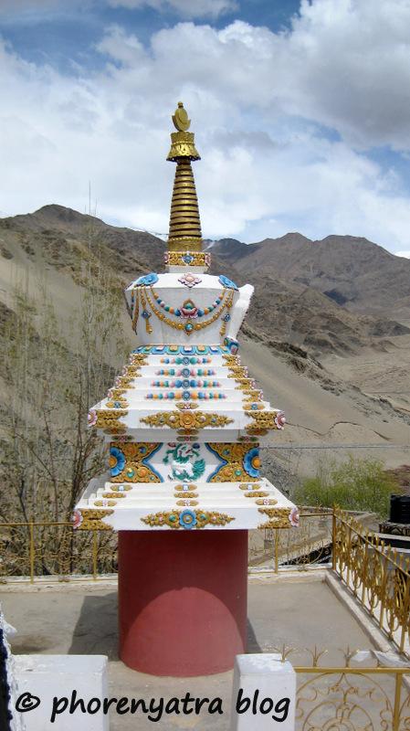stupa at Thiksey monastery