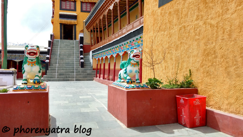 Thiksey monastery courtyard