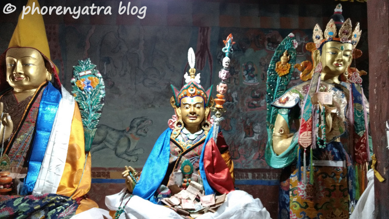 Thiksey monastery temple god