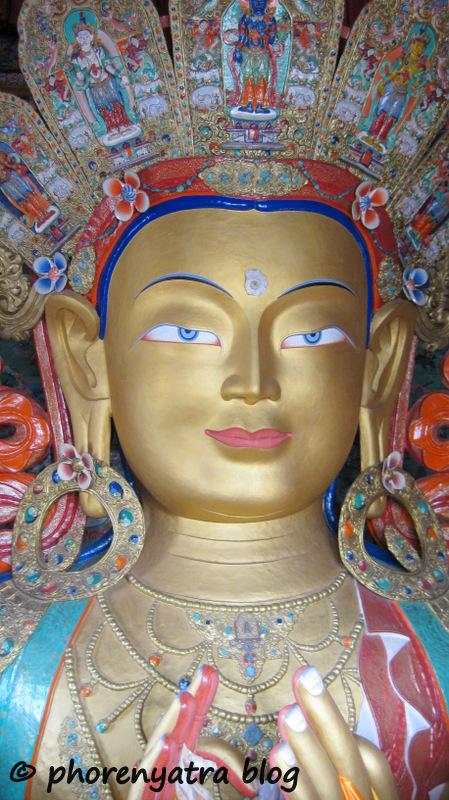 Thiksey monastery Buddha