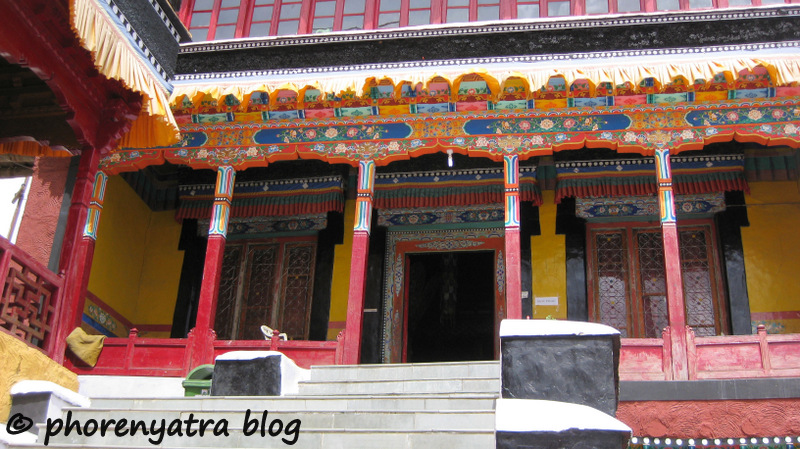 Thiksey monastery painting