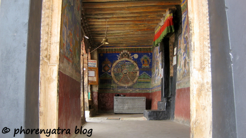 Thiksey monastery temple painting