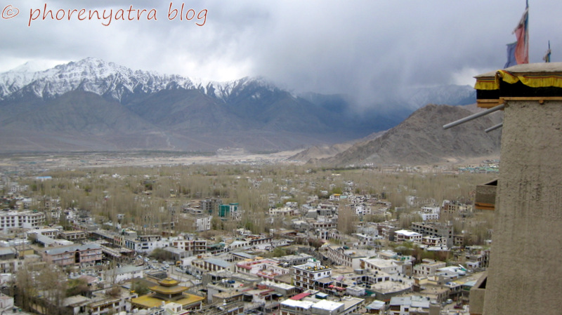view of Leh city from Palace