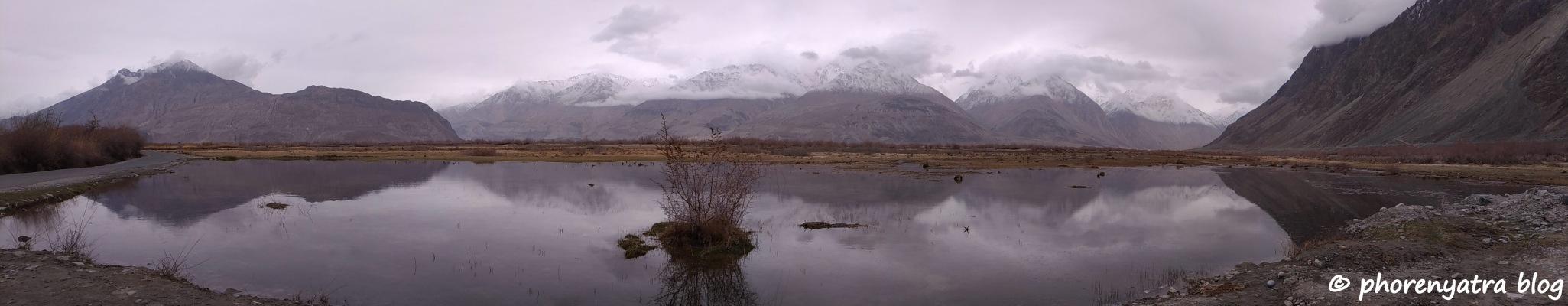 nubra pond reflection