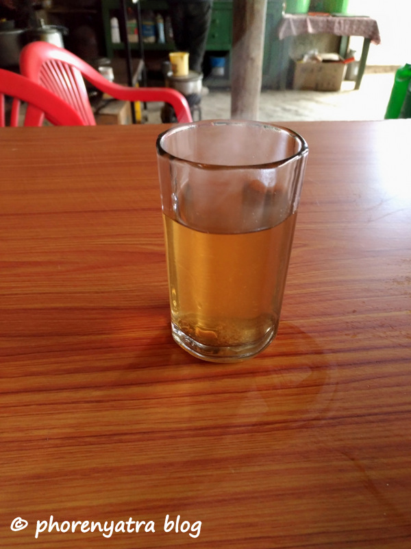 herbal tea at tangtse