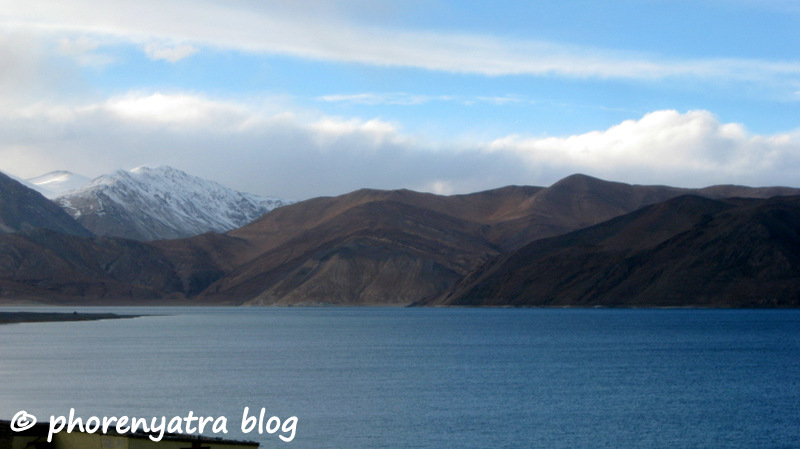 pangong lake clearing weather