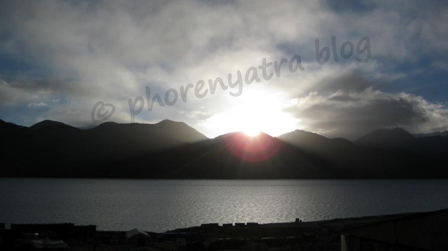 sunrise at Pangong Lake