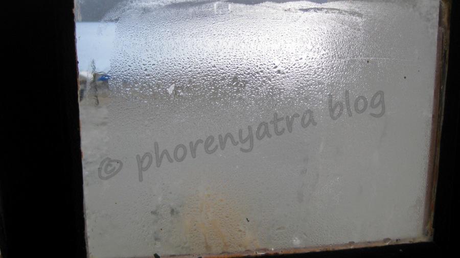 frozen window Pangong Resort
