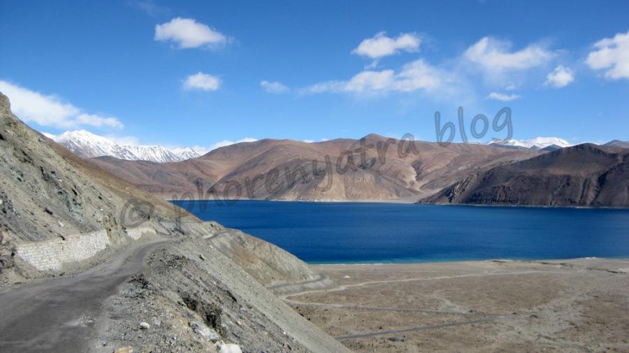 Pangong Lake from road