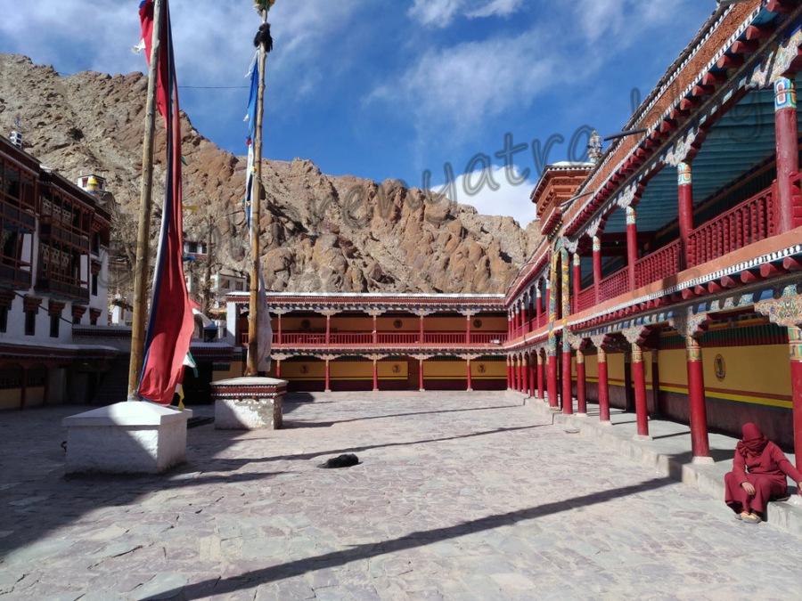 Hemis monastery courtyard