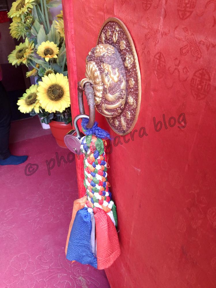 door decoration at Hemis monastery