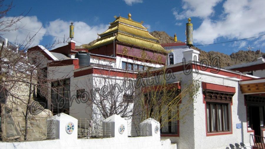 prayer hall at Shanti Stupa