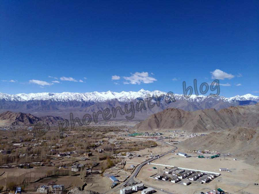 view from shanti stupa