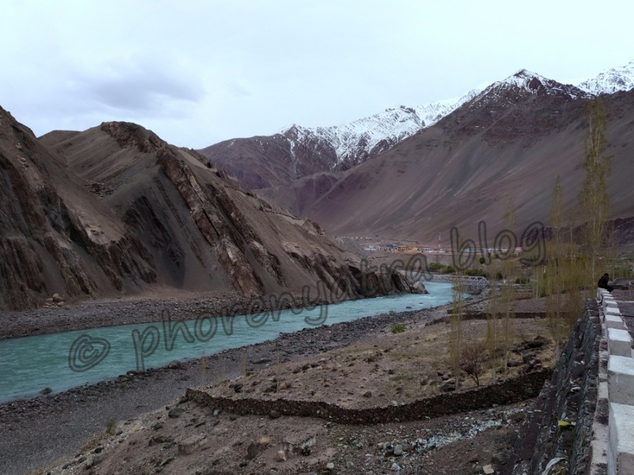 Indus viewpoint at Alchi Monastery