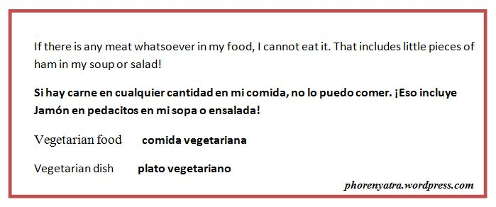 spanish vegetarian flash cards