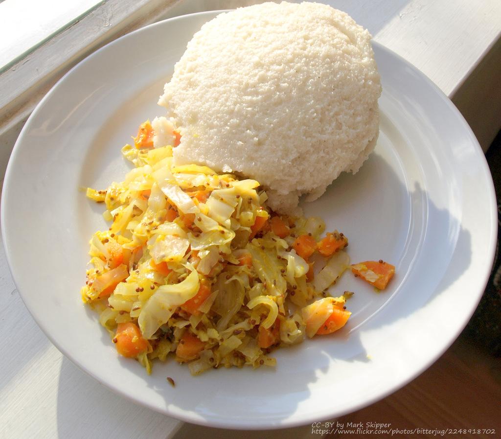 ugali cabbage tanzania