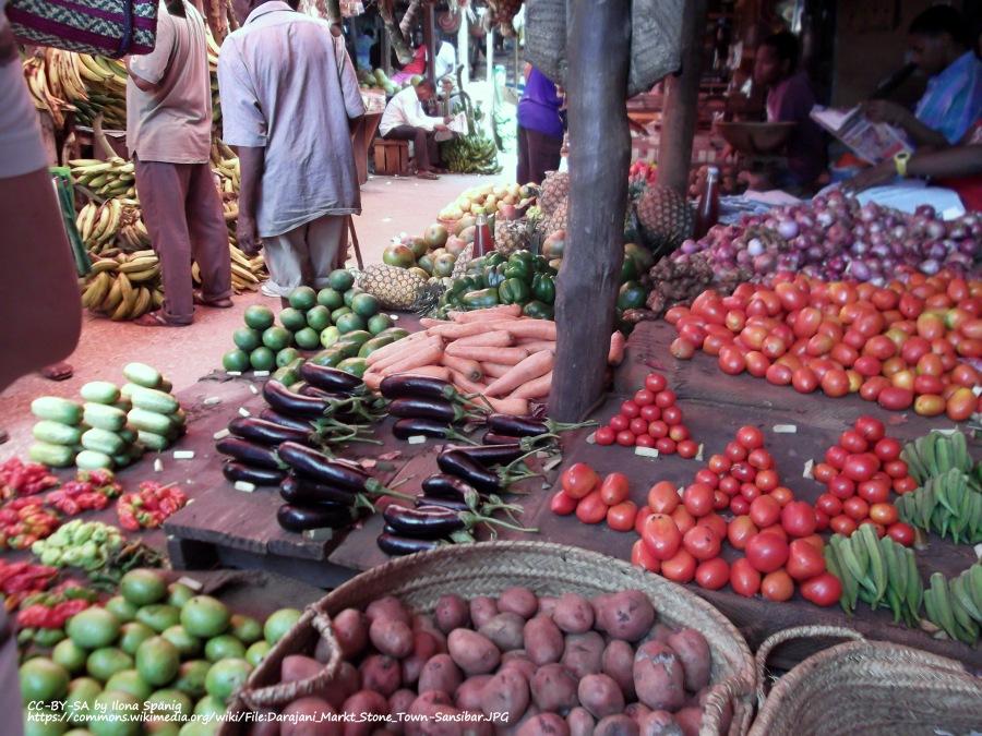 vegetable stall tanzania