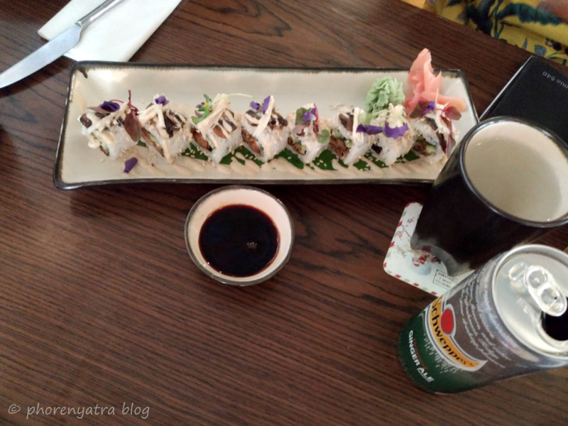 3 mushroom Maki Roll