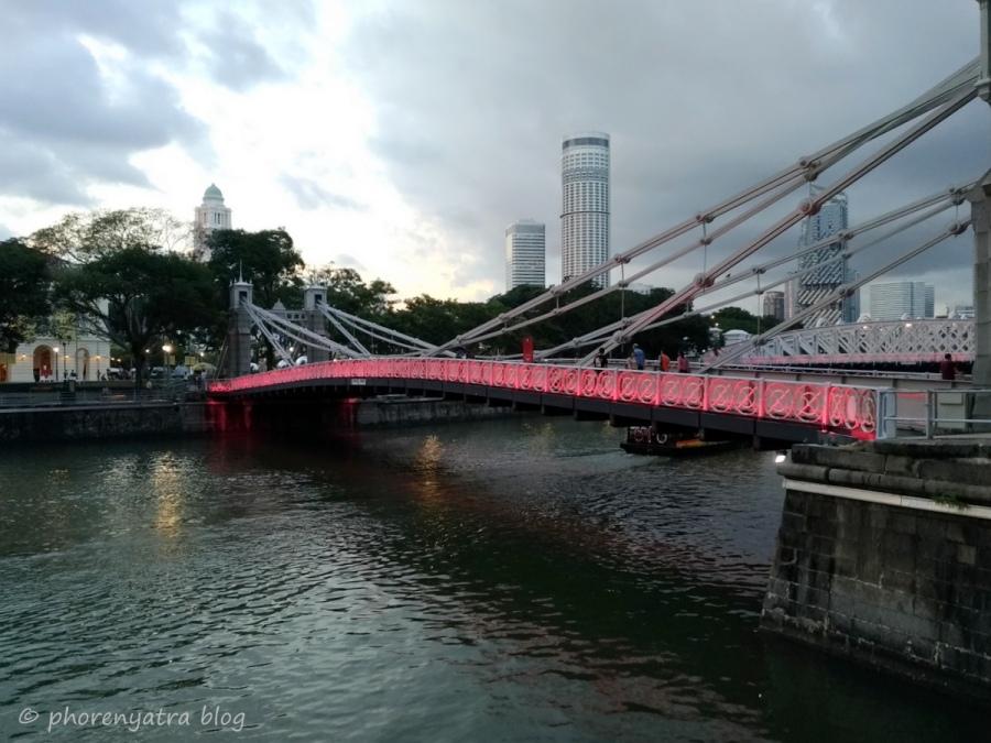 Fullterton Waterfront Bridge Singapore