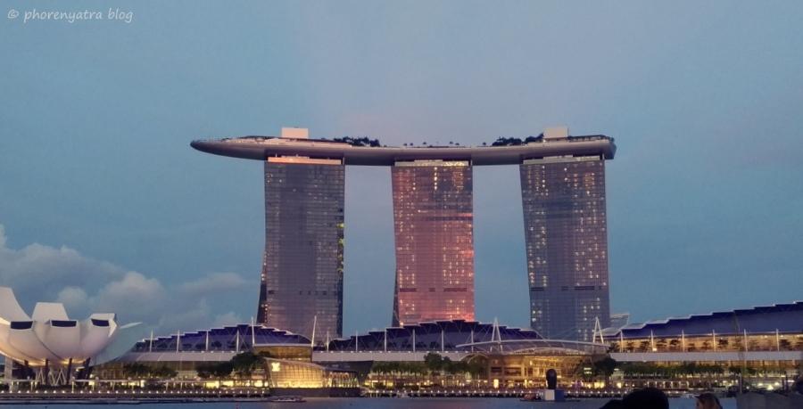 Marina Bay Sands evening