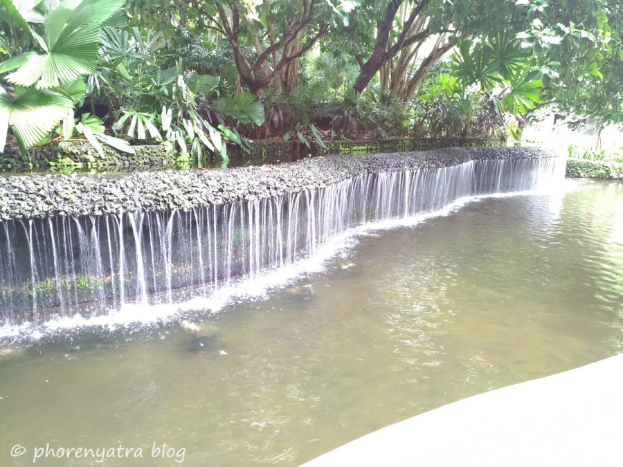 Waterfall Singapore Orchid Garden