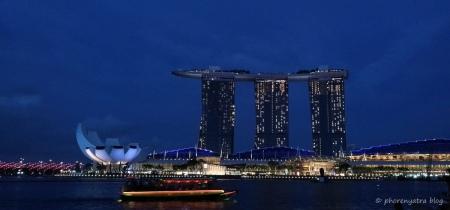 Singapore night view Waterfront