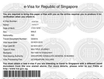 singapore e-visa