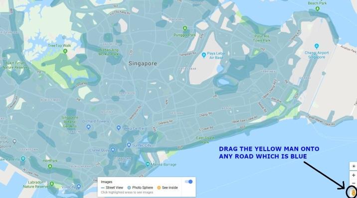 Singapore google map street view