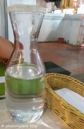 drinking water at Gokul Singapore