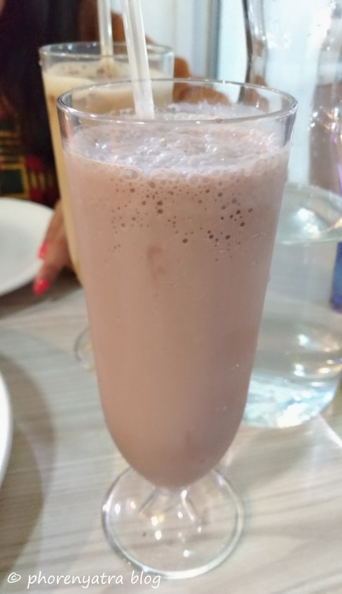 Chocolate Milkshake at Gokul Singapore
