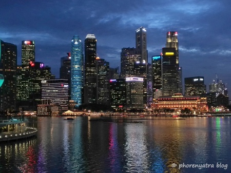 singapore downtown lights