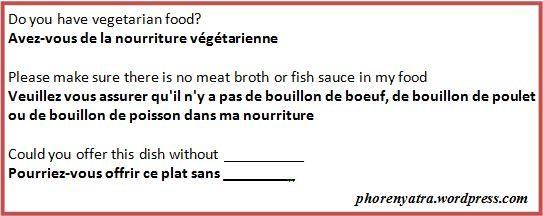 france veg food phrases 2